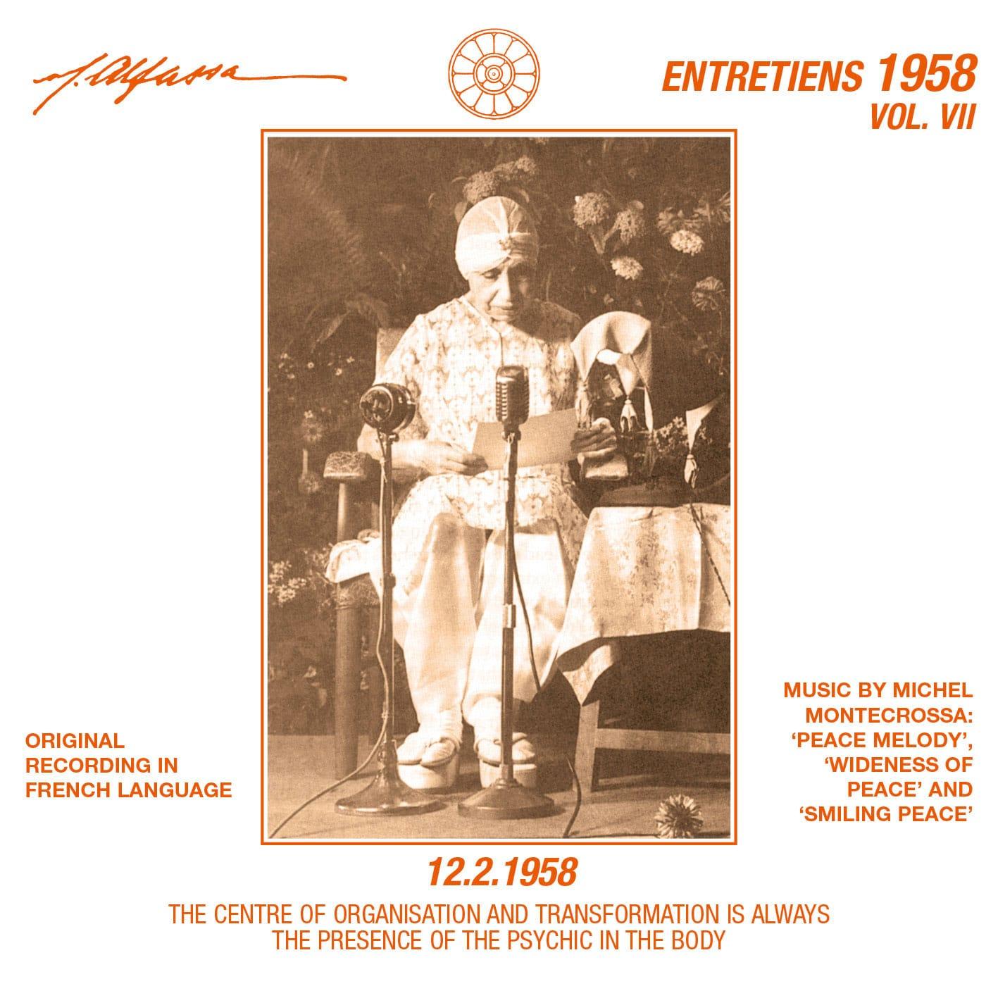Entretiens 1958, Vol. 7 - 12.2.1958