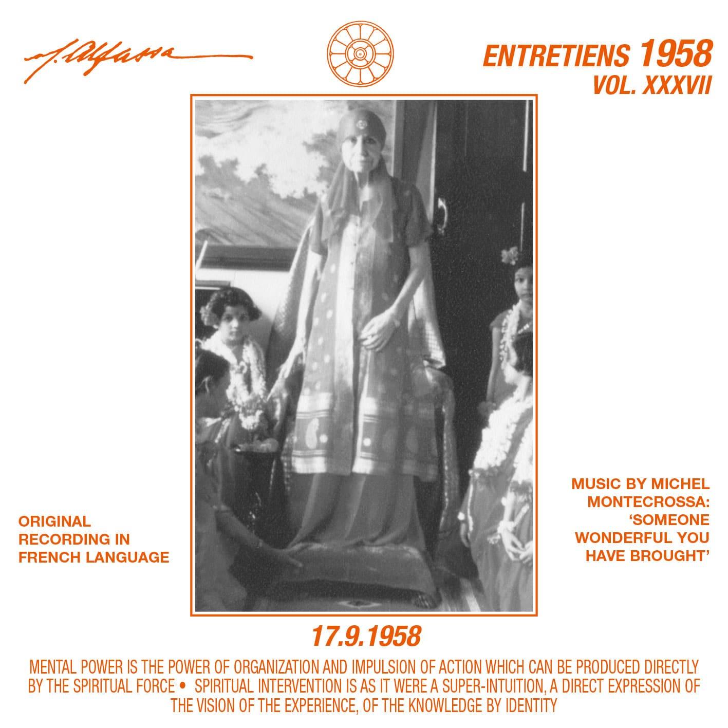 Entretiens 1958, Vol. 37 - 17.9.1958