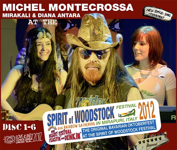 Michel Montecrossa, Mirakali and Diana Antara at the Spirit of Woodstock Festival 2012 in Mirapuri, Italy - Box One