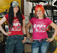 Mirakali and Diana Antara wearing Spirit of Woodstock Festival T-Shirt