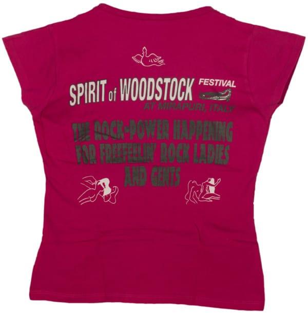 Spirit of Woodstock Festival T-Shirt, Women, Back, Pink