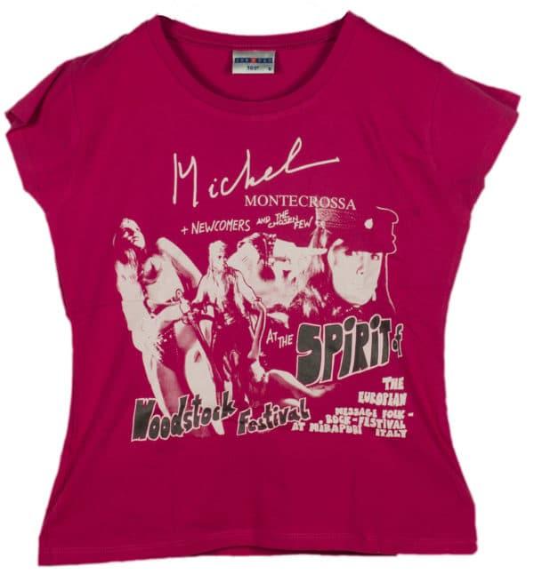 Spirit of Woodstock Festival T-Shirt, Women, Pink