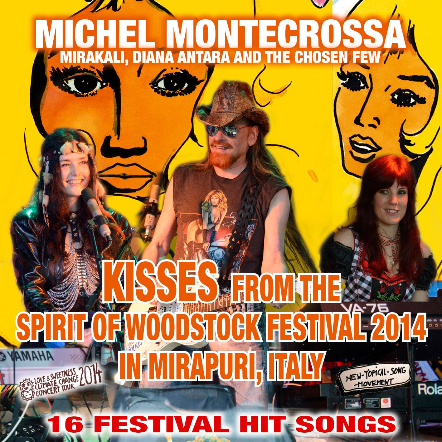 Kisses from the Spirit of Woodstock Festival 2014 in Mirapuri, Italy