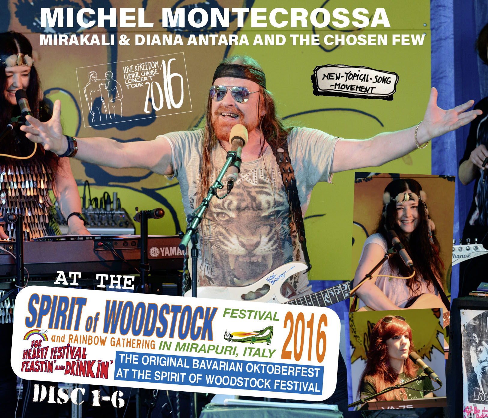 Michel Montecrossa, Mirakali and Diana Antara at the Spirit of Woodstock Festival 2016 in Mirapuri, Italy - Set 1