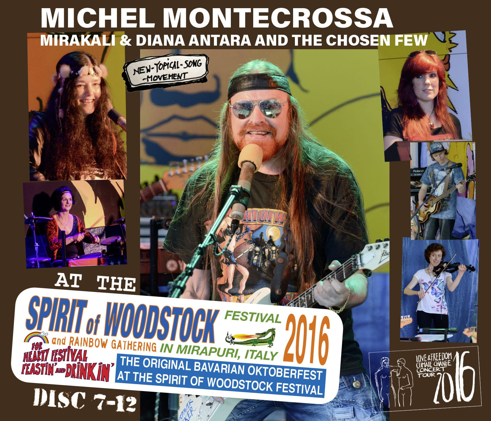 Michel Montecrossa, Mirakali and Diana Antara at the Spirit of Woodstock Festival 2016 in Mirapuri, Italy - Set 2