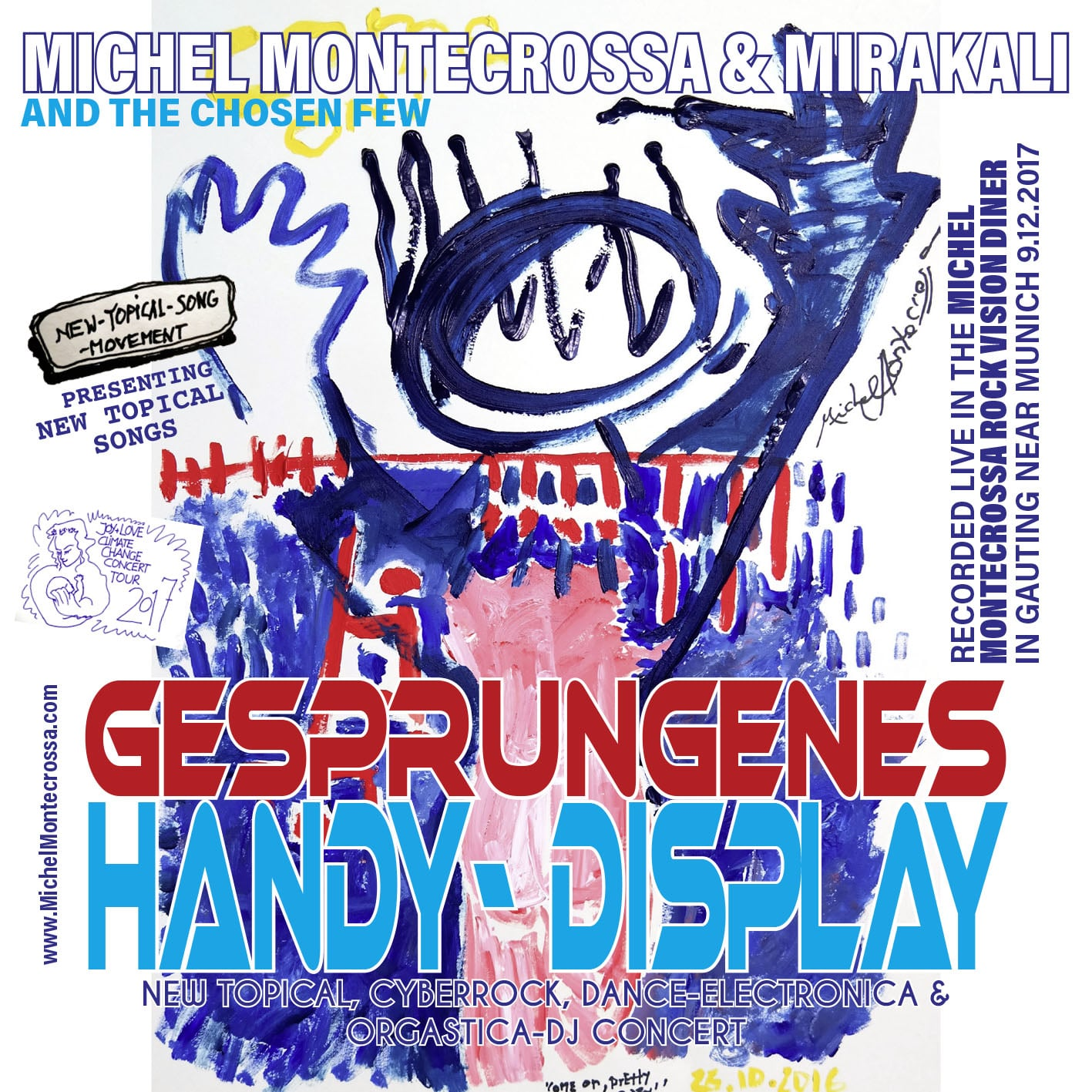Gesprungenes Handy-Display Concert